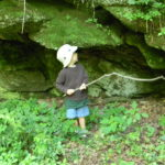 playing poke nature with a stick