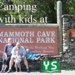 at the sign for Mammoth Cave National Park
